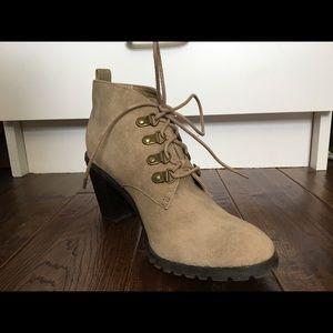 Restricted suede booties